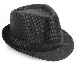 mens stripe Tuxedo Dress fedora hat fashion & classical cap 08