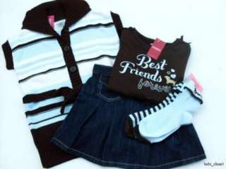 Gymboree Girls Best Friend 4 Pc Vest Skort Tee Socks Sz 7 8 NWT