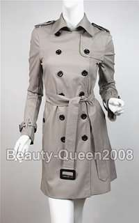 Military Trench Coat Jacket Dress Long Blouse Tunic Top
