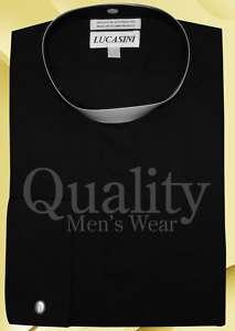 BLACK CLERGY FULL COLLAR BAND DRESS SHIRT 18 34/35