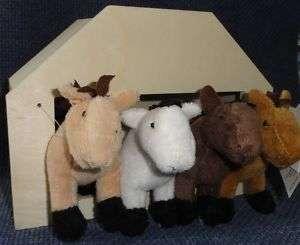 Plush HORSES with RTF Wood HOUSE/Barn ~ KID CRAFT