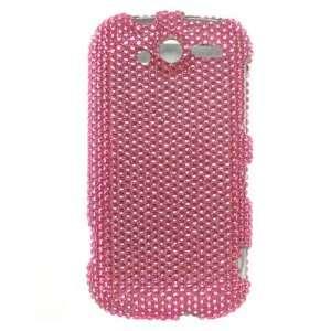 FULL HOT PINK Hard Plastic Diamond Bling Case for HTC Mytouch 4G (T