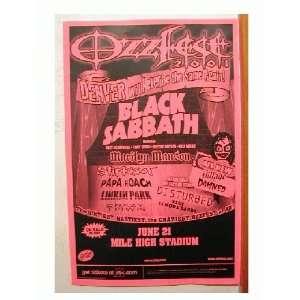 Black Sabbath Ozzy Osbourne Handbill Slipknot Poster