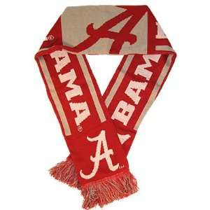 Alabama Crimson Tide College Sports Warm Woven Knit Stripe Team