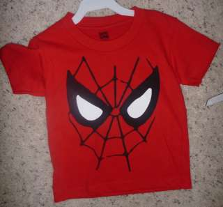 NWT Boys Toddler SPIDERMAN Spider man T shirt Size 2 3T 4T Webslinger