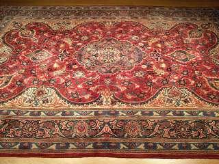 7x11 Beautiful Handmade Antique Persian Kashan Wool Rug