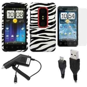 3D (Zebra Print) + Clear LCD Screen Protector Film Guard + Micro USB