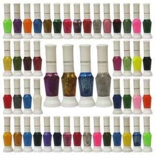 50PCS Color False Nail Art Tips Two Way Pen Varnish Polish Brushes Set