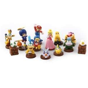 Mario 13 Peice Cake Topper Decoration Set, Wii, Nintendo, DS *USA