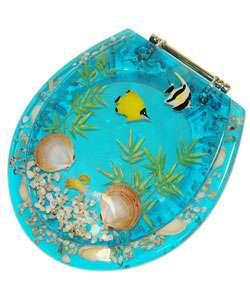 Clear Resin Seashell Amp Seahorse Toilet Seat Elongated Sea