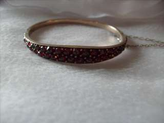 Vtg Antique Victorian Rose Cut Bohemian Garnet Bracelet