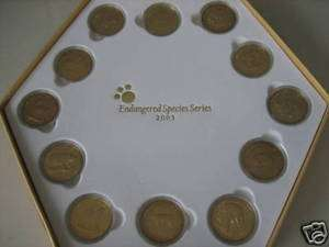 2003 Malaysia Endangered Species 12 Coins set