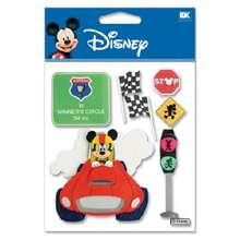 EK Disney Stickers  RACE CAR MICKEY  #322  NEW 015586670783