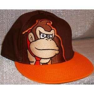 Nintendo DONKEY KONG Embroidered Flex Fit Brown Baseball
