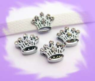 50pc 10mm Crown Slide Charms Fit Wrisband Bracelet and Pet Collar Dog