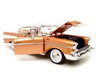 1957 CHEVROLET BEL AIR 118 ERTL GOLD DIECAST MODEL