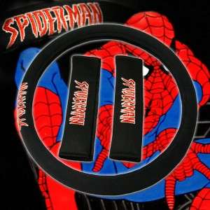 NEW 15PC UNIVERSAL MARVEL SPIDERMAN CAR SEAT COVERS MAT