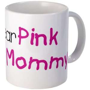 Drink Cup) Cancer I Wear Pink Ribbon For My Mommy