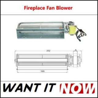 75 CFM Blower Fan Fireplace Gas Wood Coal Stove for Heat Surge and