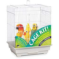 Prevue Pet Products Square Roof Bird Cage Kit White 91320