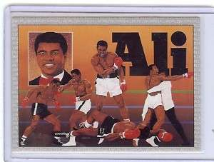 MUHAMMAD ALI Boxing 1991 AW Sports Checklist #1 Card
