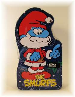 THE SMURFS CHRISTMAS MENS BOXER SHORTS NEW IN TIN XL