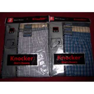 Mens KNOCKER Plaid BOXER SHORTS S, M, L, XL, 2XL, 3XL