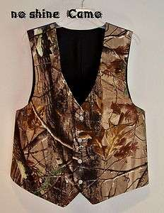 NEW Camo Wedding Vest/ Mans  Custom Made USA