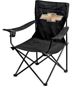 Folding Garage Chair with Chevy Bowtie Emblem