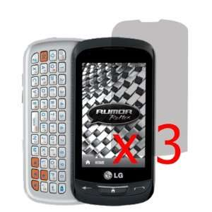 Mobile LG Rumor Reflex LN272 x3  Clear Cell Phones & Accessories