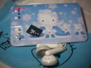 4GB bl/bg HELLO KITTY slim card size  player + extras
