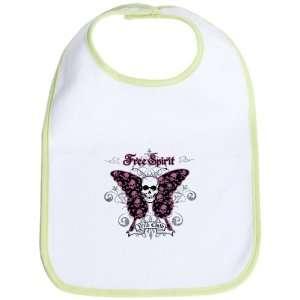 Baby Bib Kiwi Butterfly Skull Free Spirit Wild Child
