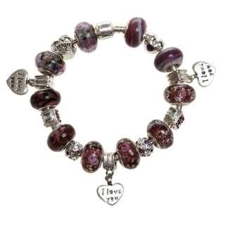 lampwork gold crystal European bracelet beads charms Jewelry