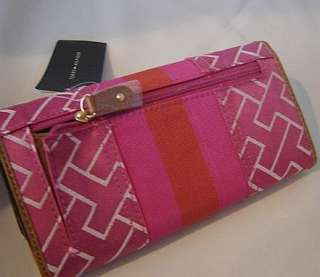 Nwt Authentic Tommy Hilfiger Womens Logo Checkbook Wallet Pink