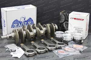 Eagle Forged H Beam Rods Crank Integra LS B18A1 B18B1 Wiseco Pistons