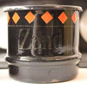 Antique Dutch Art Deco black & red enamel Sand Soap Soda Rack.1920s
