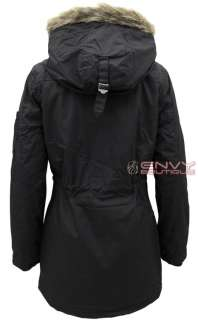 WOMENS LADIES MILITARY HOODED PADDED QUILTED PARKA JACKET COAT SIZE 10