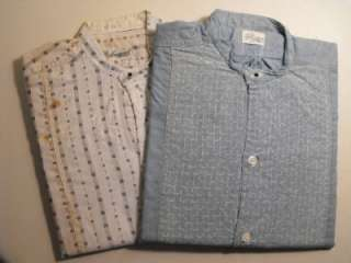 Vtg Mens Small Cotton Work Shirts New Old Stock c1920s