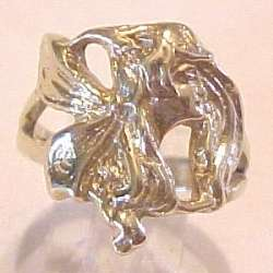 14Kt Gold Art Nouveau Style Fairy Ring   NEW