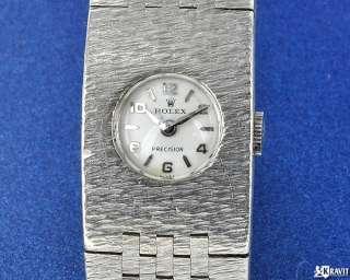 Ladies Rolex Precision 18K White Gold Wrist Watch Ref 8792