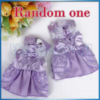 Dress Wedding Skirt Apparel Clothes for Pet Dog Puppy