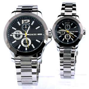 Quartz round wrist watch fashion style for mens womens a couple lovers
