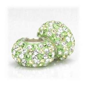 Bella Fascini Peridot Green Mix Swarovski Crystal Element