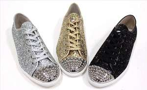 womens fashion sneakers Sequined bling shoes high quality amazing