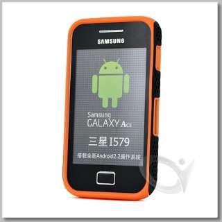 Black Mesh Orange Silicone Case w screen Protector For Samsung Galaxy