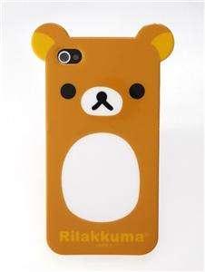 Rilakkuma Bear TPU Cute Case Cover Skin iPhone 4 4G iphone4