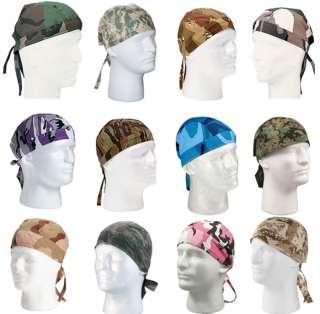 Camouflage Headwrap Army Camo Bike Cap Tie Soldier Head Wrap