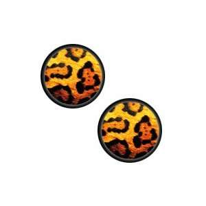 Double Flared Brown/Black Animal Print Picture Plugs  7/8
