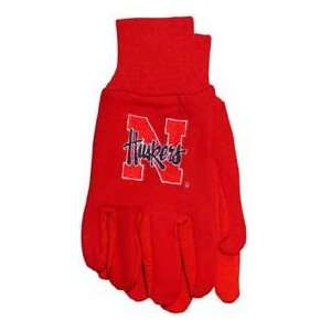 Nebraska University Corn Huskers Knit College Logo Glove