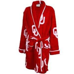 Oklahoma Sooners Ladies Crimson Logo Cozy Robe: Sports